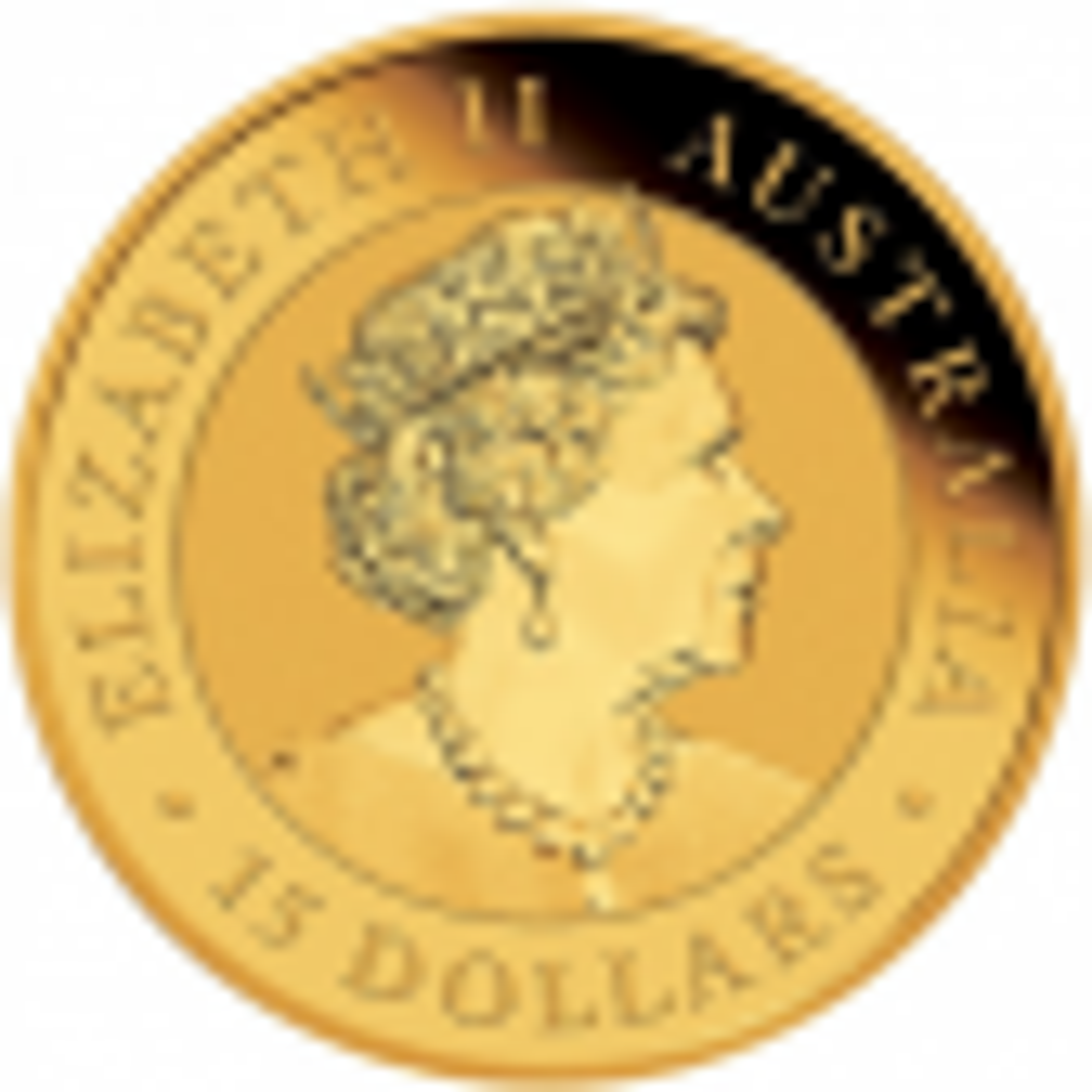 1/10 troy ounce gouden munt kookaburra 2021 - achterkant