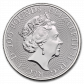 1 Troy ounce platina munt Queens Beasts Falcon of the Plantagenets 2020 achterzijde