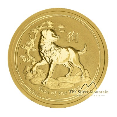 1/2 Troy ounce gold Lunar coin 2018 year of the Dog