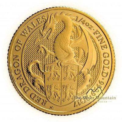 1/4 Troy ounce gold coin Queens Beasts Dragon 2017