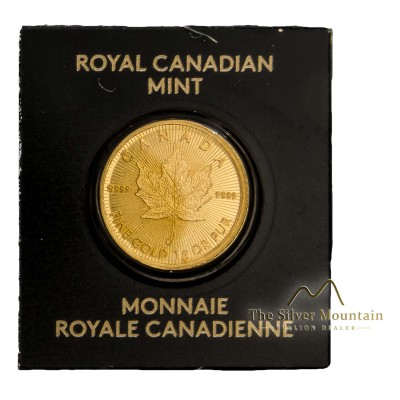 1 gram gold Maple Leaf coin Assay Card 2018