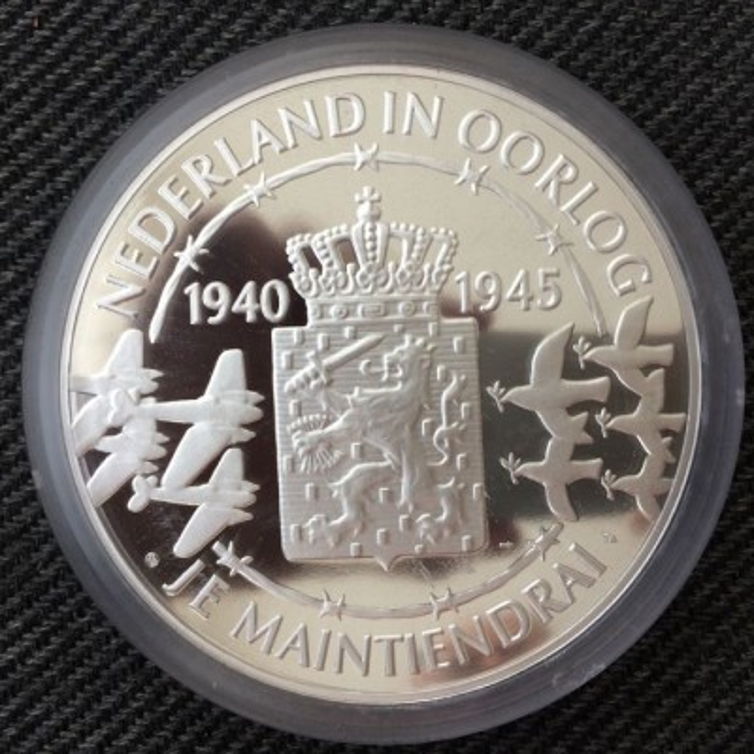 1 Kilogram zilveren munt Nederland in Oorlog .925