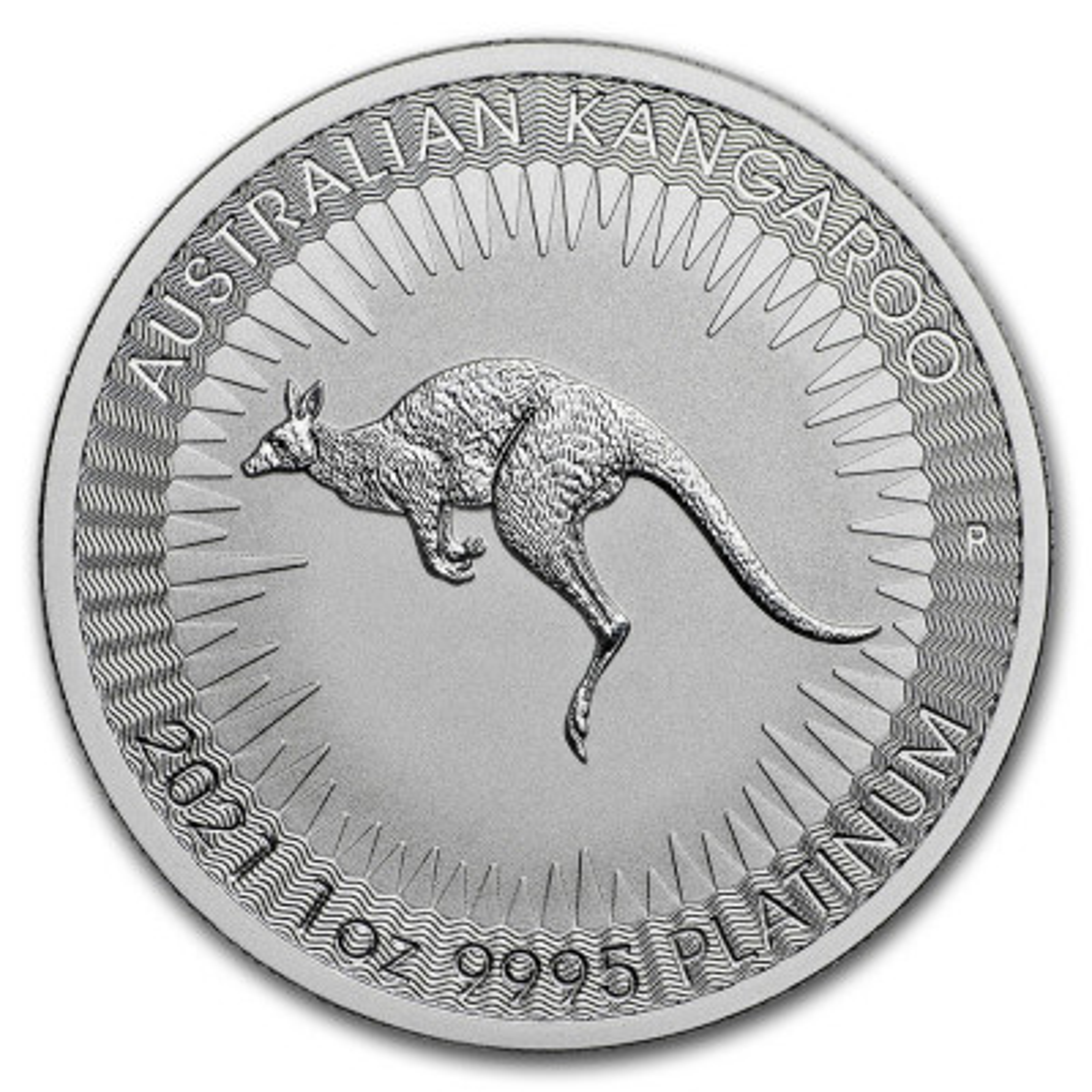 1 Troy ounce Platinum Kangaroo coin 2019