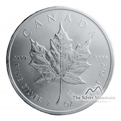 1 troy ounce silver coin Maple Leaf obverse