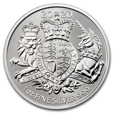1 Troy ounce silver coin Royal Arms 2019