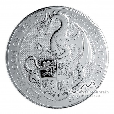 10 Troy ounce silver coin Queens Beasts The Dragon
