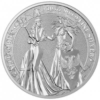 10 Troy ounce zilveren munt Germania Allegories 2019