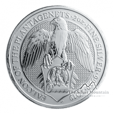 10 Troy ounce zilveren munt Queens Beasts Falcon of the Plantagenets 2019