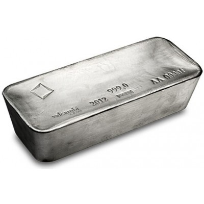 1000 Troy ounce silver bar VAT-free