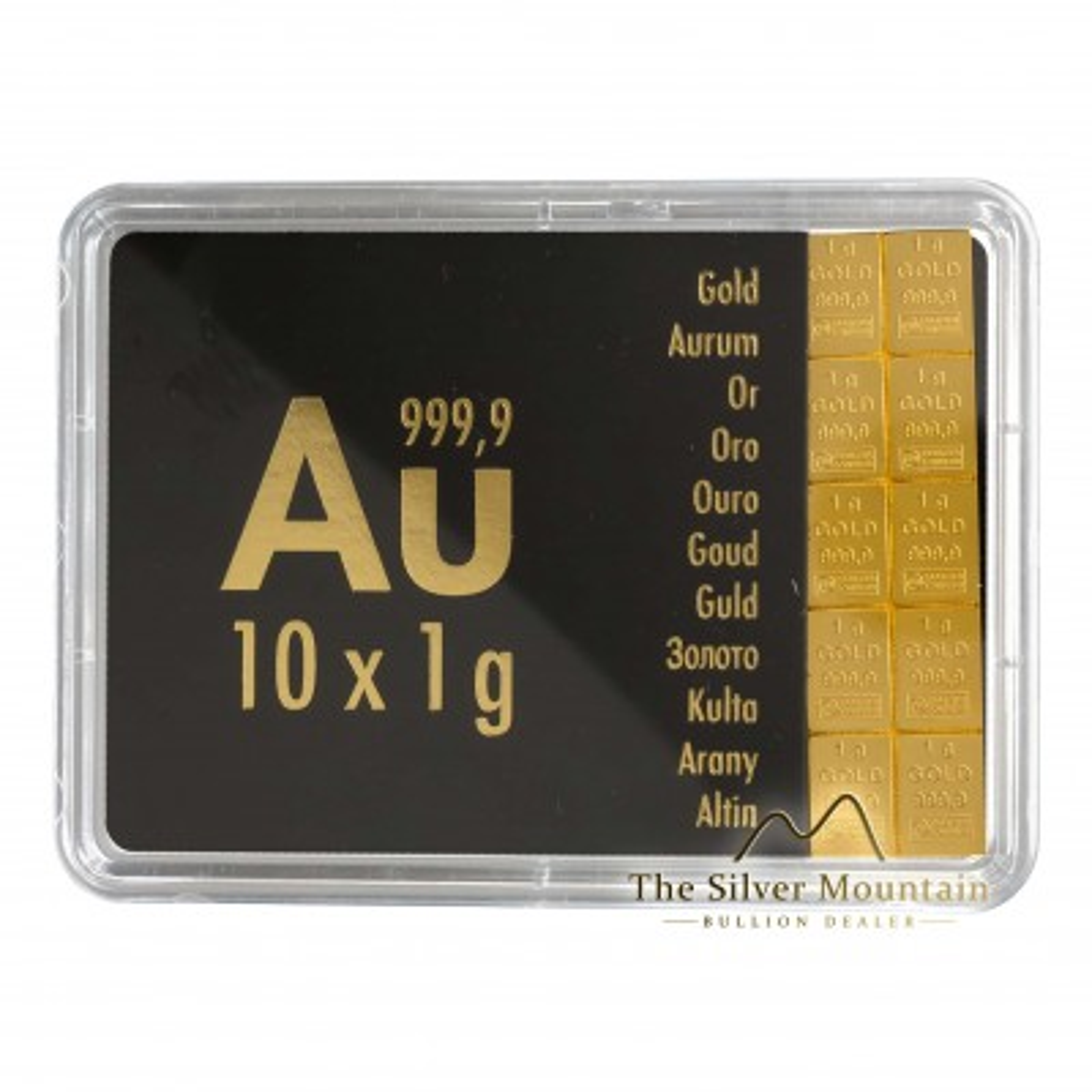 10x 1 grams gold combibar Valcambi