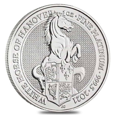 1 Troy ounce platina munt Queens Beasts White Horse