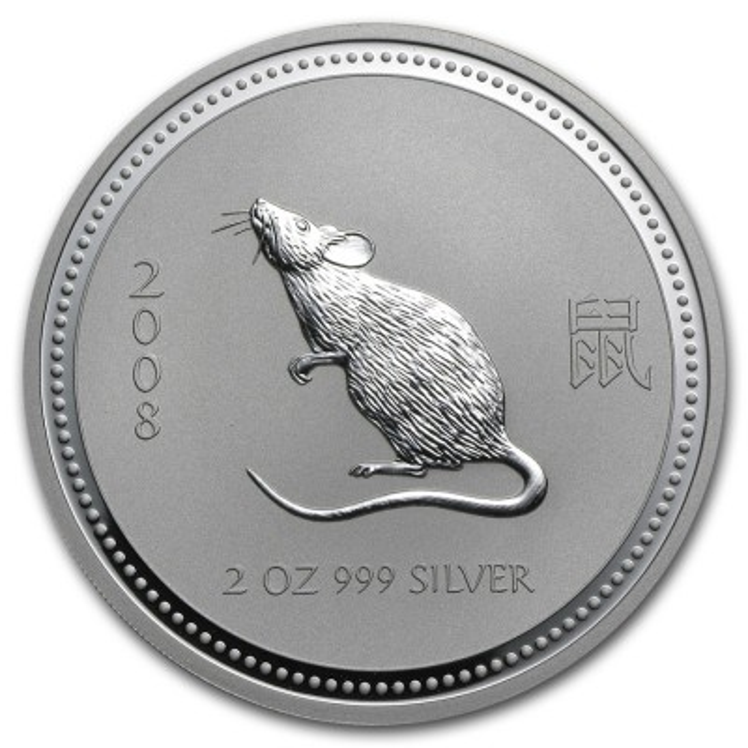 1 troy ounce zilver Lunar Series I - Jaar van de muis 2008
