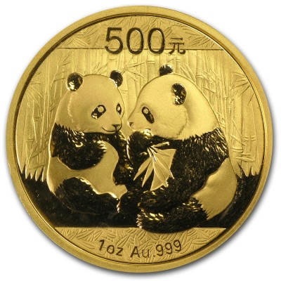 1 Troy ounce gold Panda coin 2009