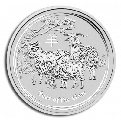 2015 - 1 troy ounce silver Lunar coin - year of the Goat