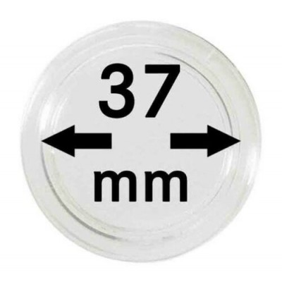 Box of 10x Leuchtturm protective coin capsules 37 mm