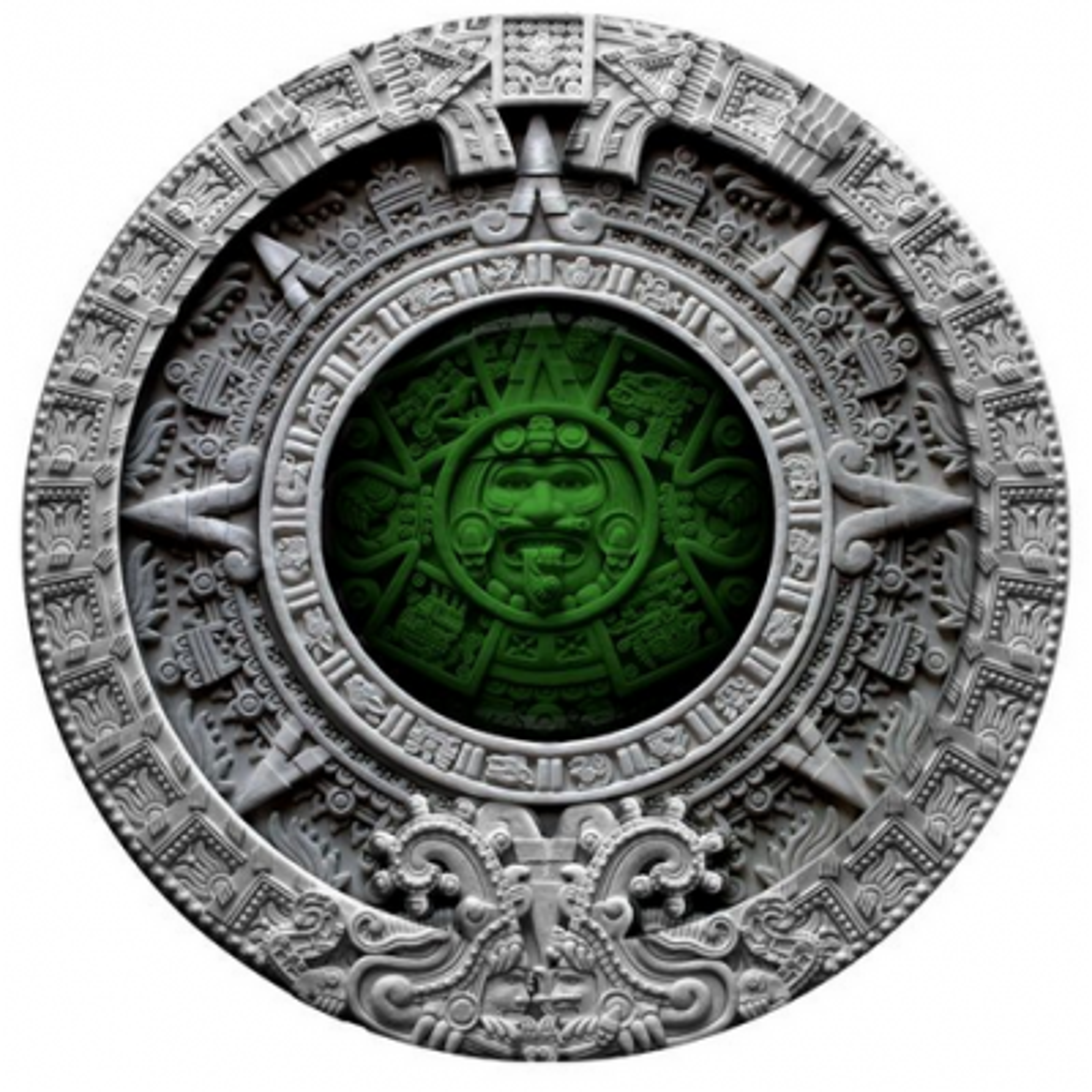 2 Troy ounce silver coin Niue Aztec calendar 2019