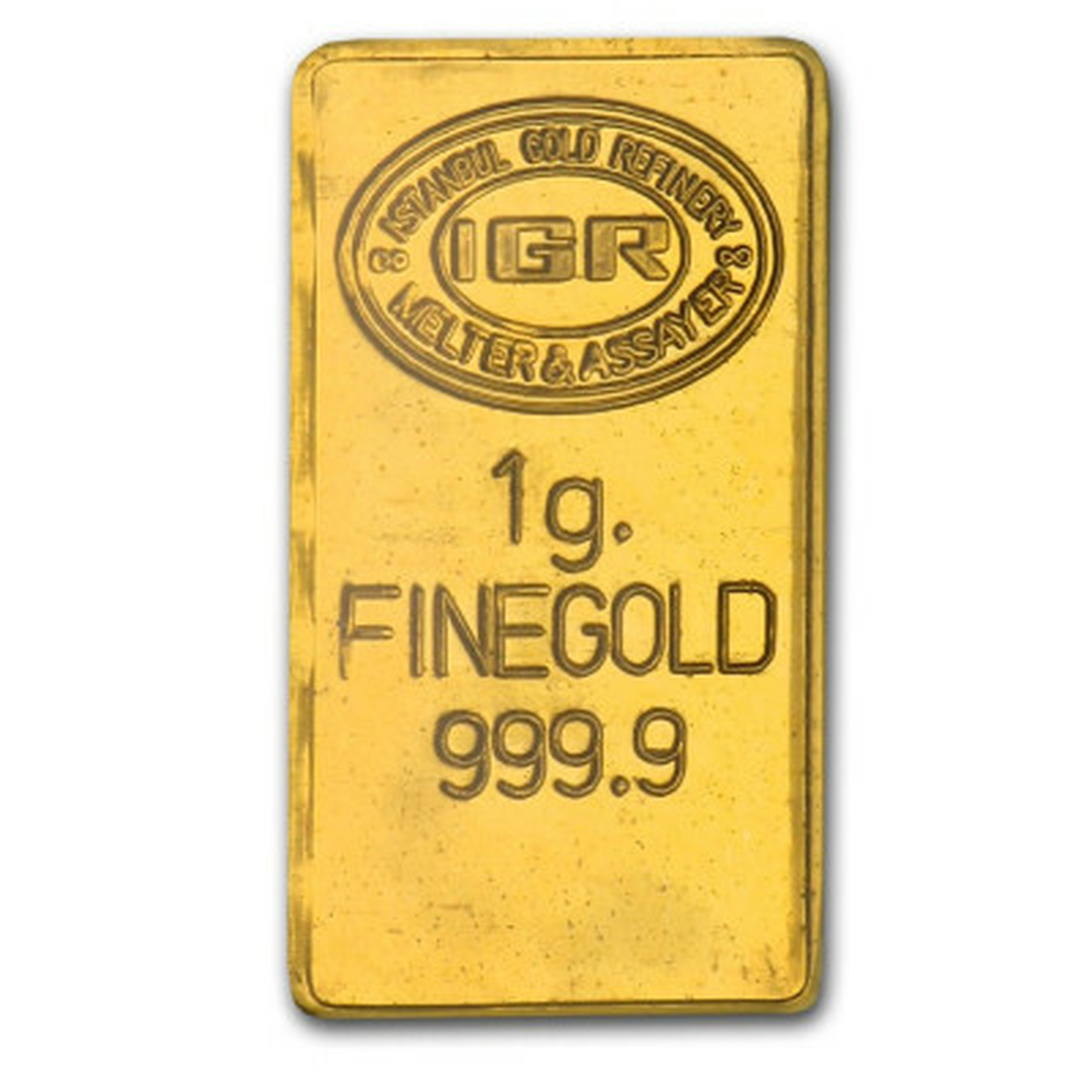 Gold bar 1 grams fine gold