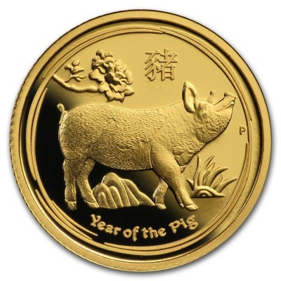 1/10 Troy ounce gold coin Lunar 2019 Proof