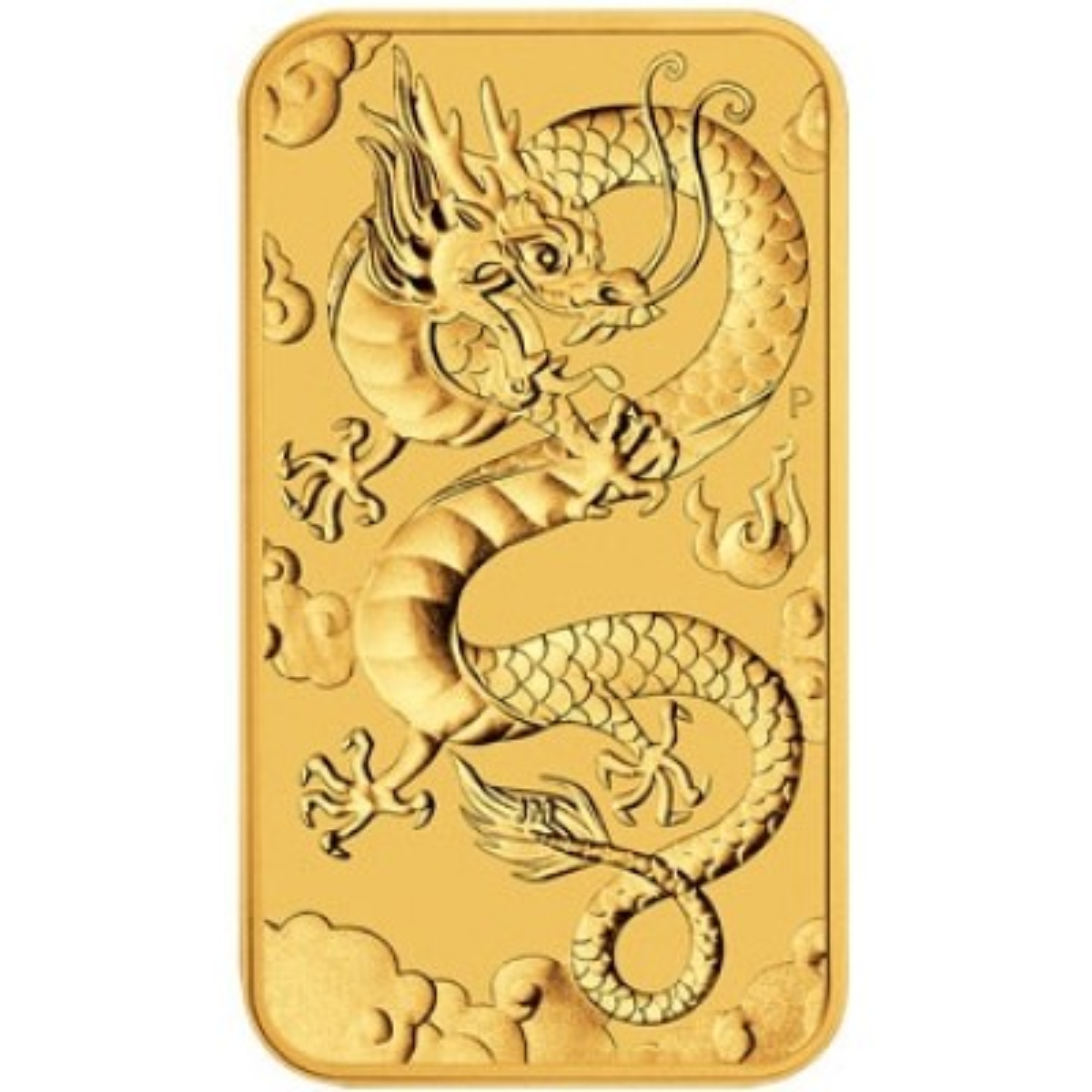 1 Troy ounce gold coin bar Rectangular Dragon 2019