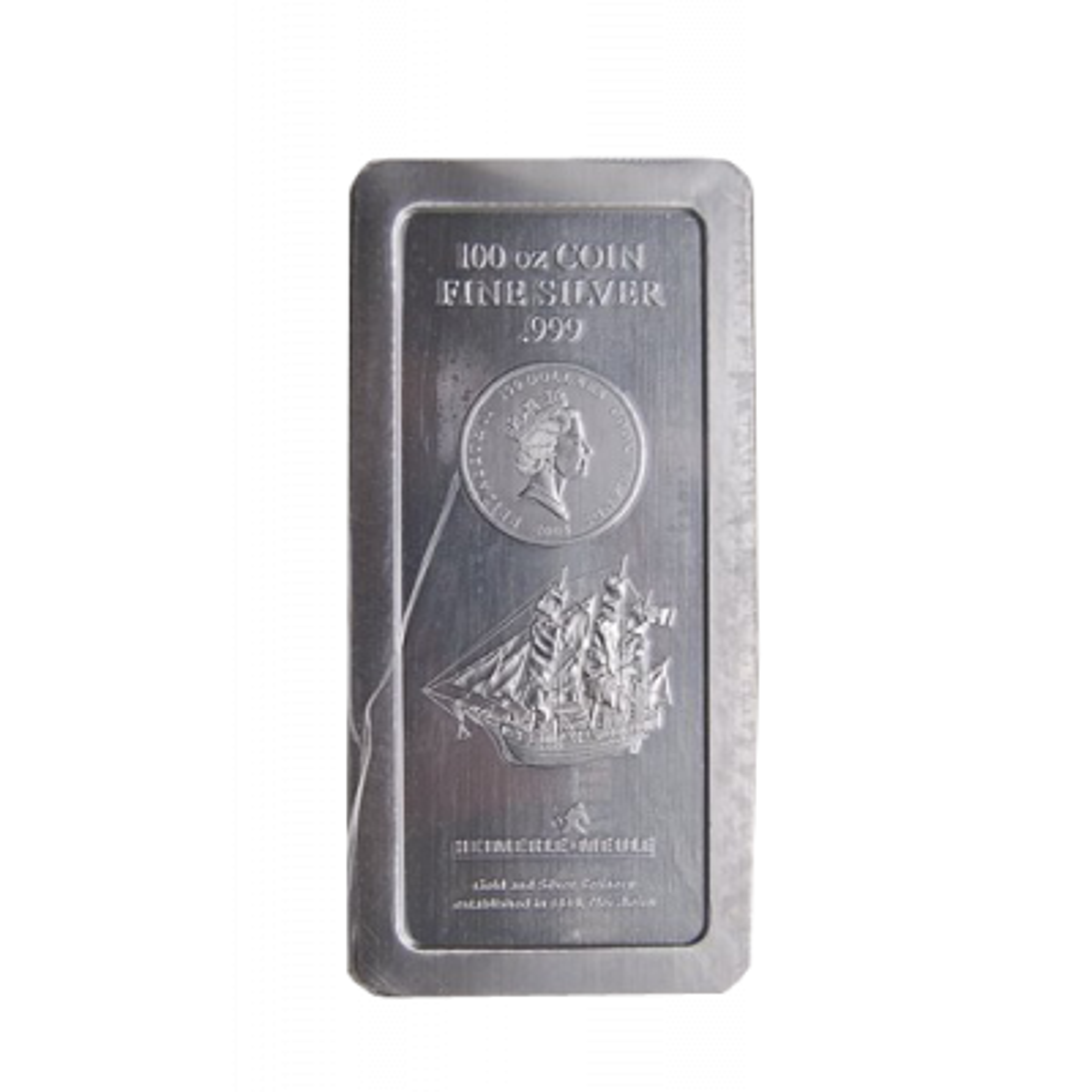 100 Troy Ounce Cook Islands Bounty silver coin bar