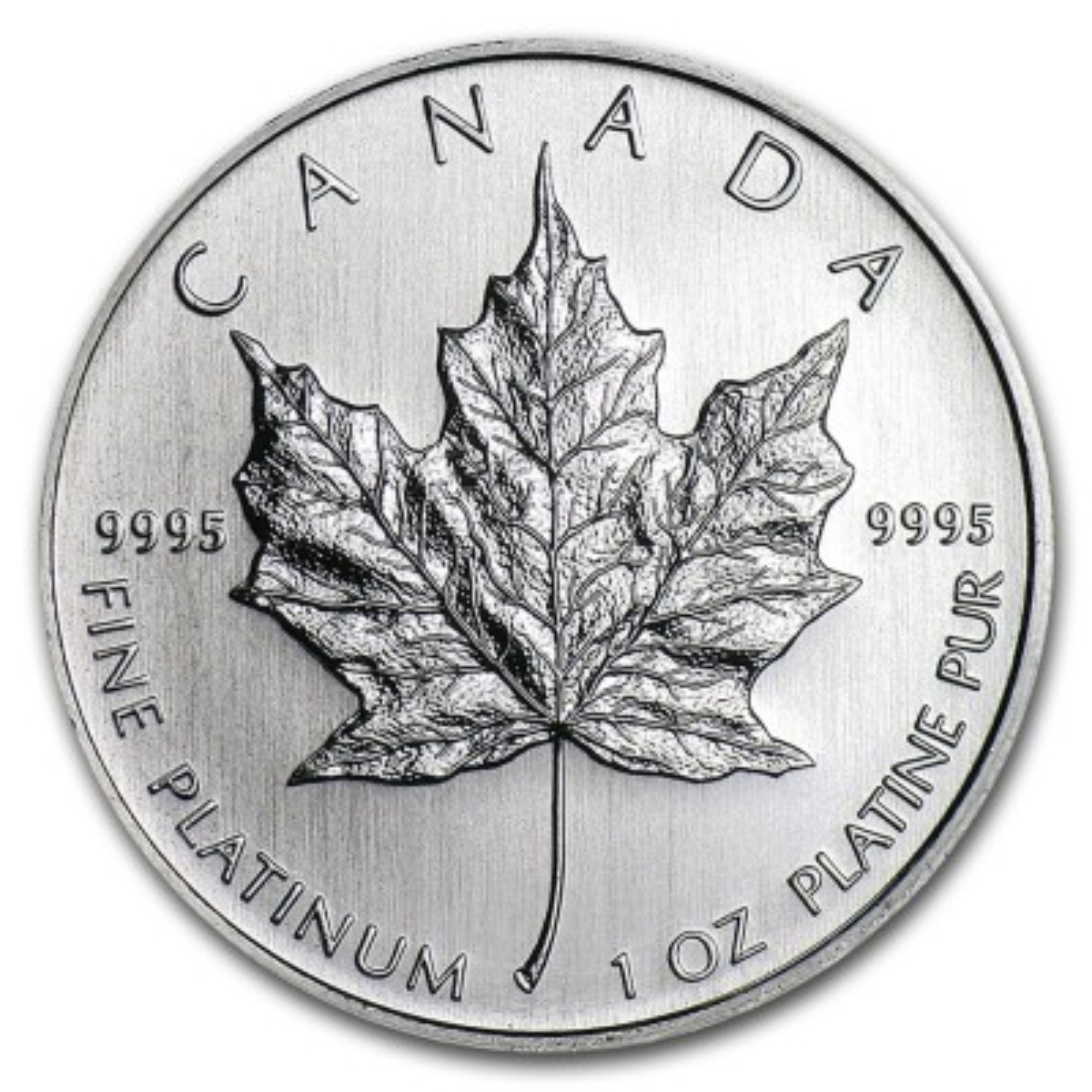 1 Troy ounce platinum Maple Leaf
