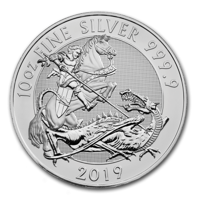 10 Troy ounce silver coin Great-Britain Valiant 2019