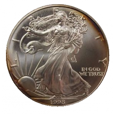 1 troy ounce American Silver Eagle circulated