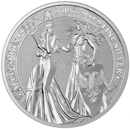 10 Troy ounce silver coin Germania Allegories 2019