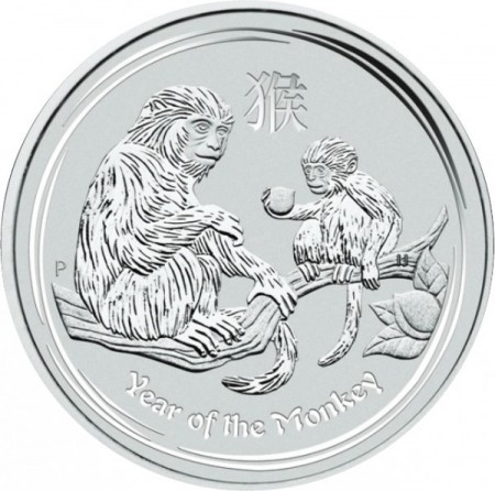 2016 - Silver coin Lunar 1 troy ounce year of the monkey