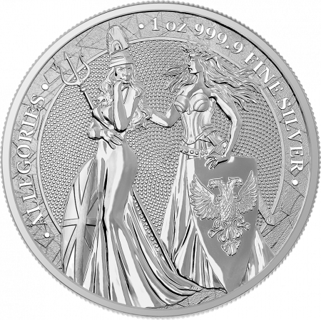 1 Troy ounce silver coin Germania Allegroies 2019