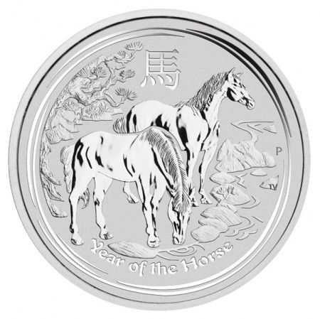 2014 zilver lunar munt Year of the Horse