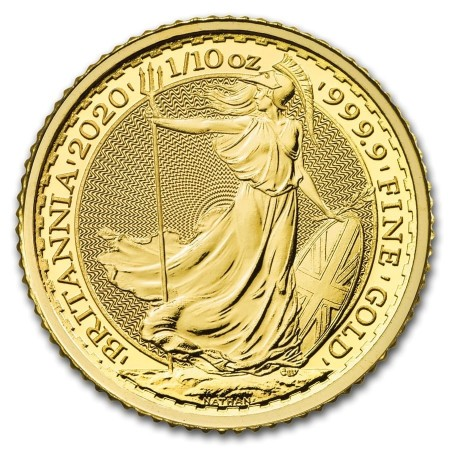 1/10 Troy ounce gold coin Britannia 2020 front