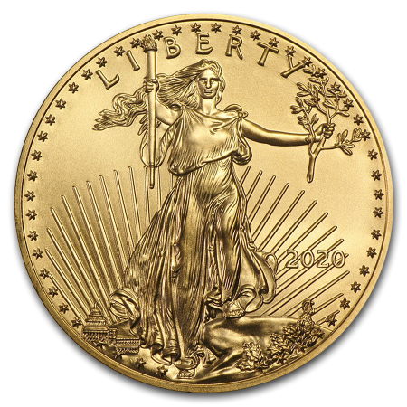 Gold 1/10 troy ounce American Eagle coin 2020