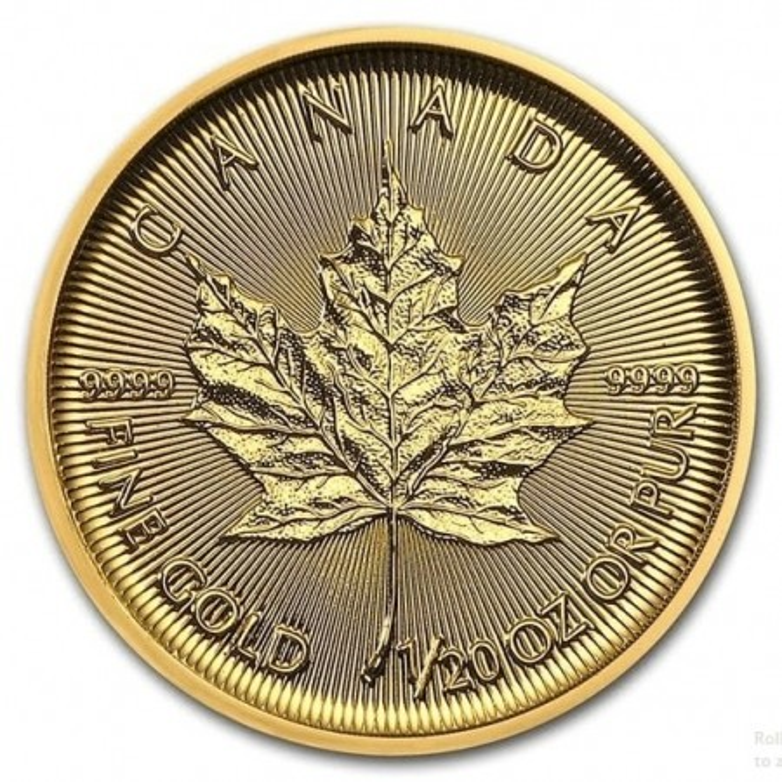 1/20 Troy ounce gold coin Maple Leaf  2020
