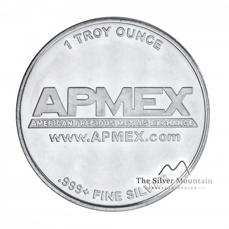 1 Troy ounce silver round APMEX