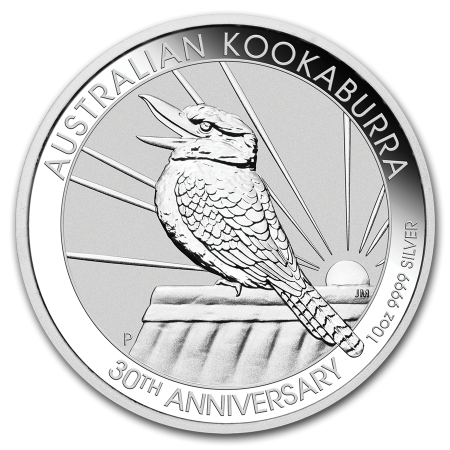 10 Troy ounce silver coint Kookaburra 2020 front
