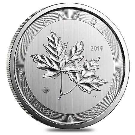 10 Troy ounce silver coin Magnificent Maple Leaf 2019