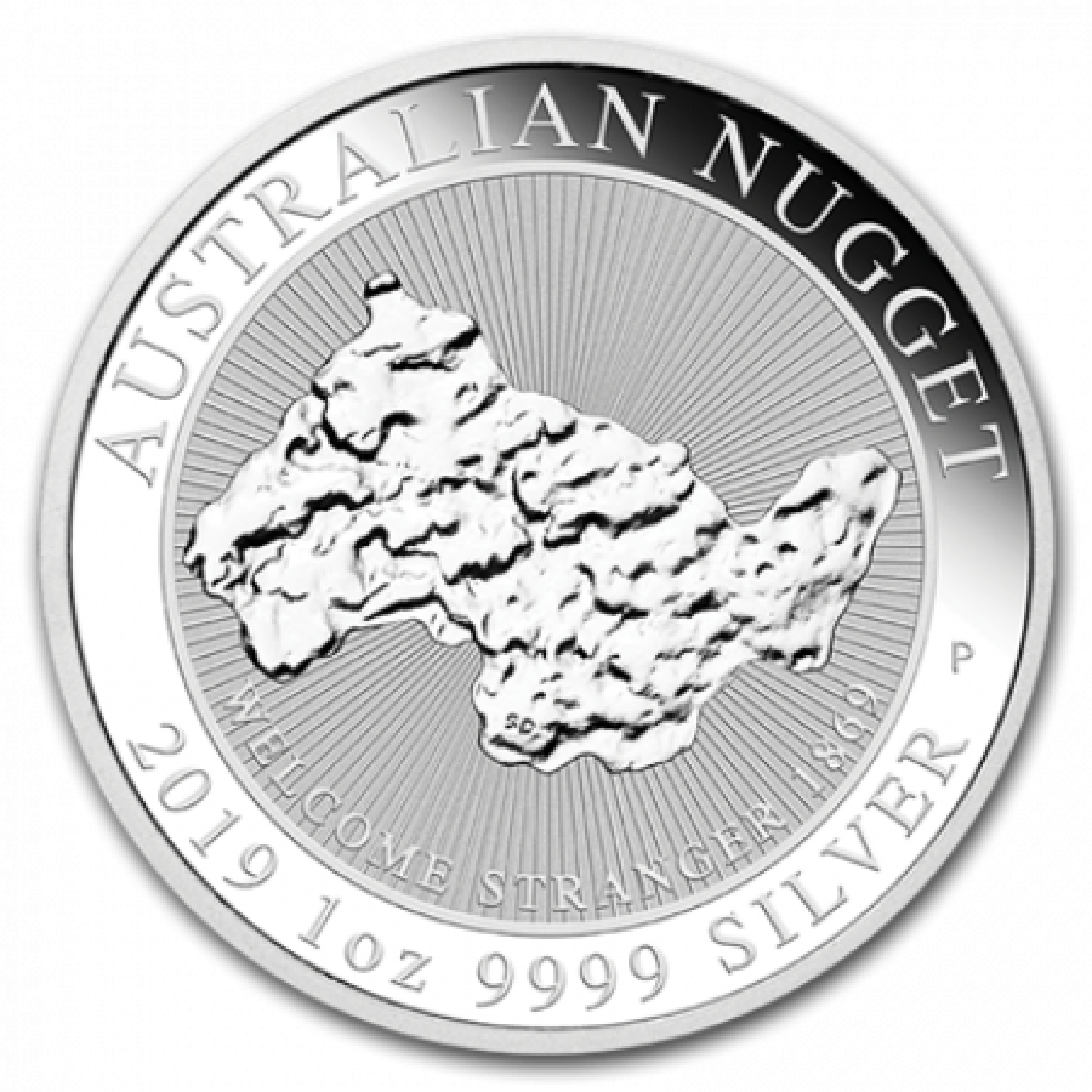 1 Troy ounce zilveren munt Nugget - Welcome Stranger 2019