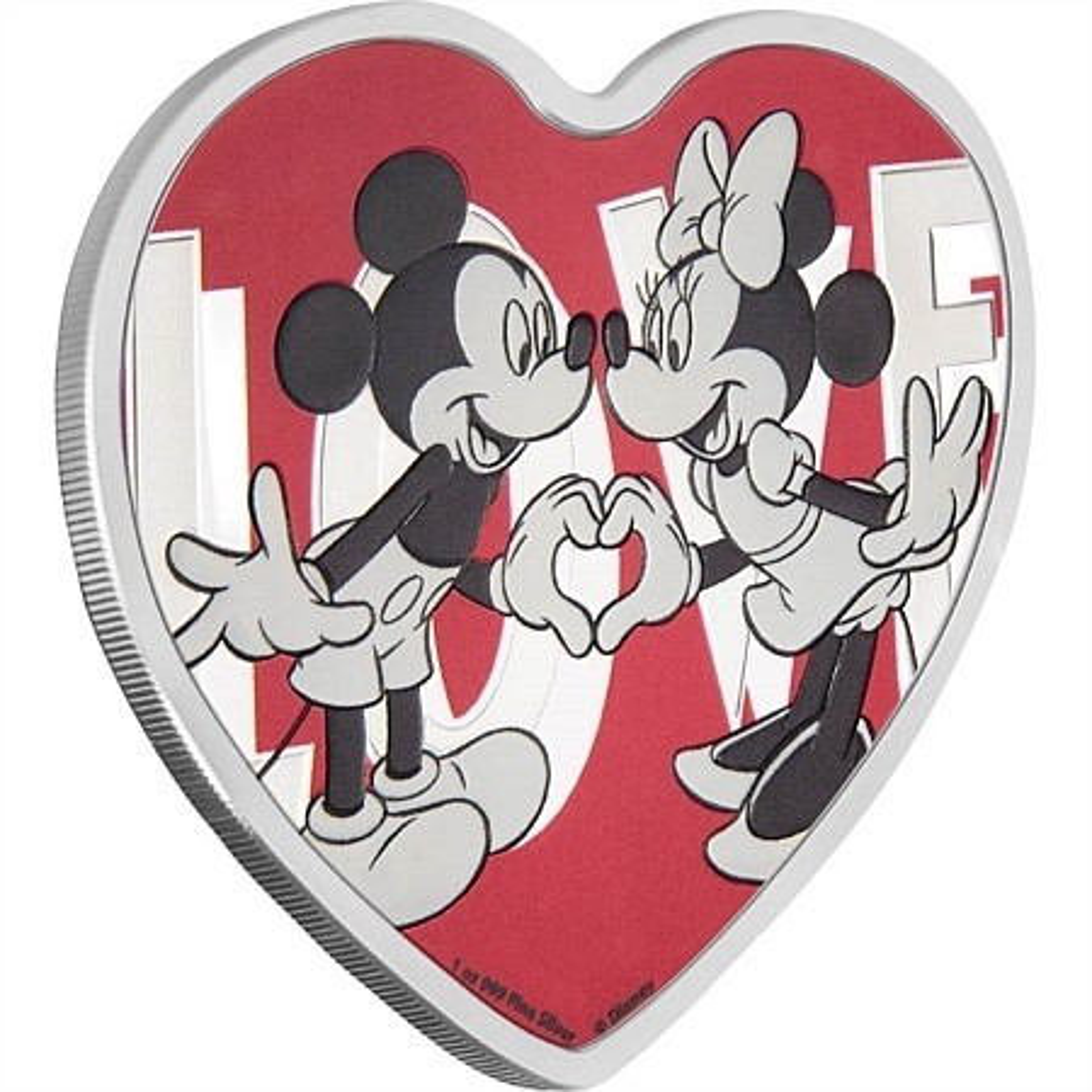 1 Troy ounce zilveren munt Disney Love 2018