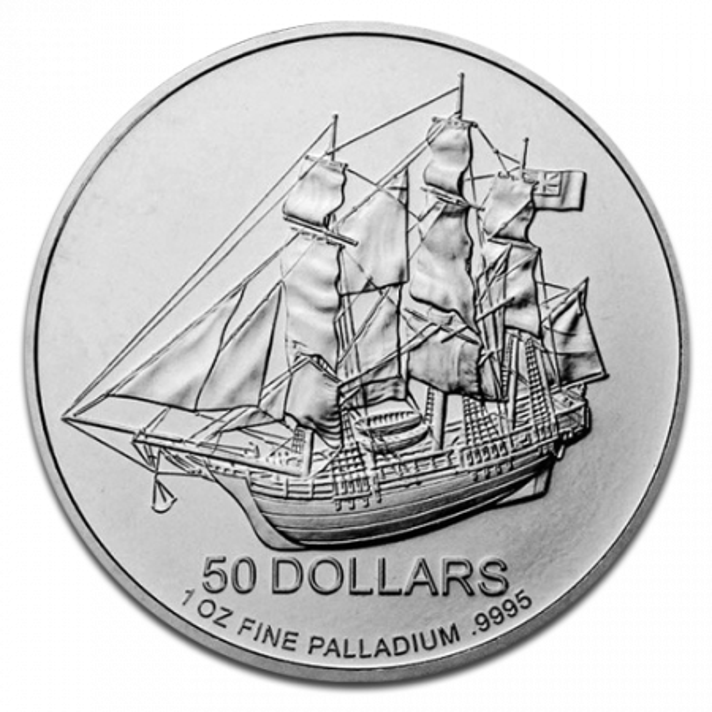 1 Troy ounce Palladium munt Cook Islands