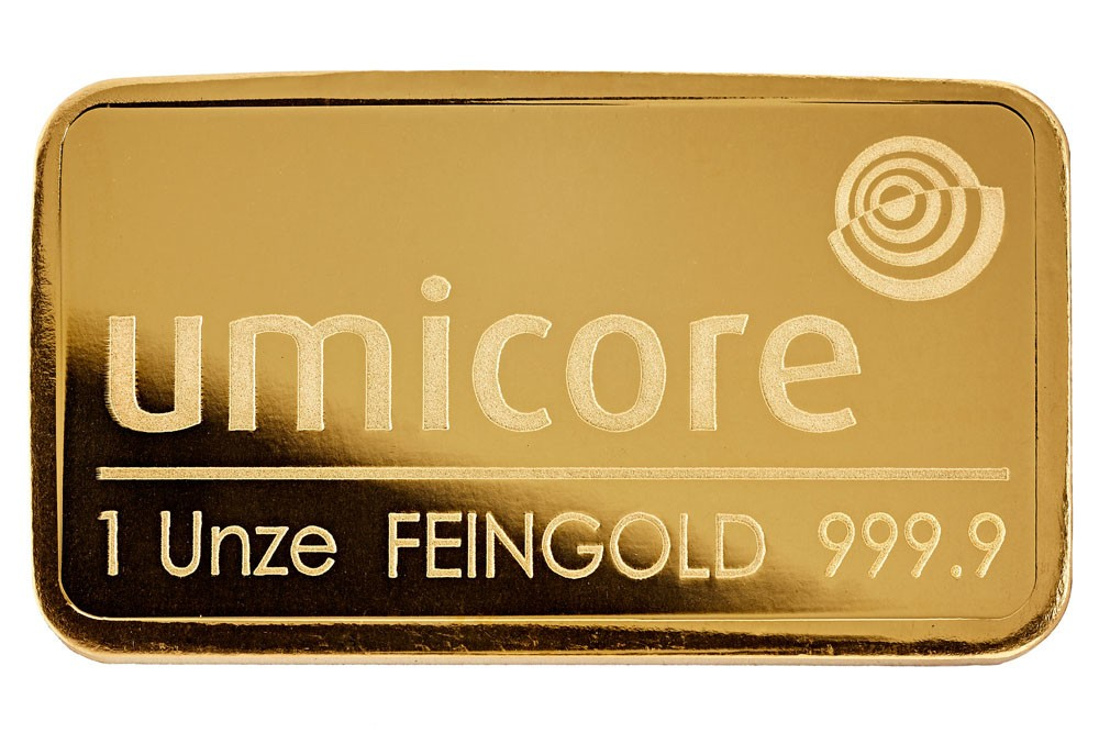 1 Troy Ounce Gold Bar Umicore