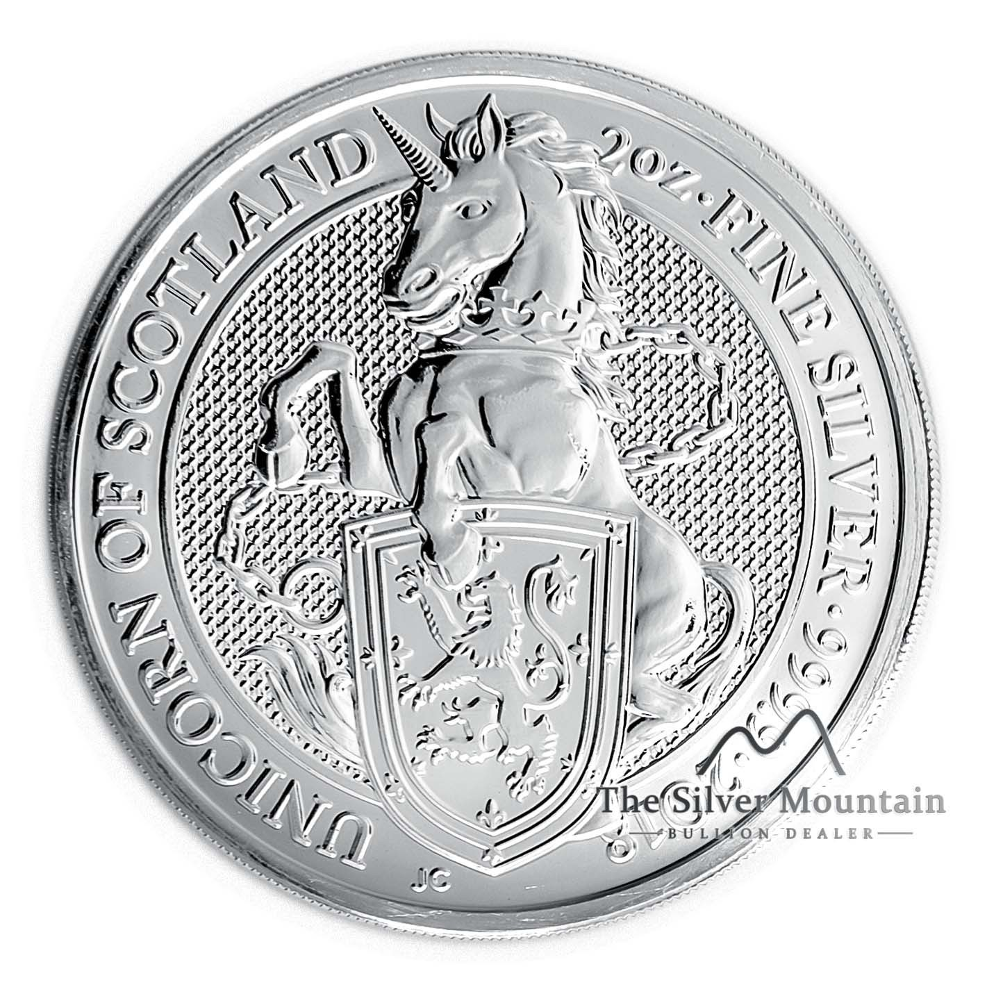 2 Troy Ounce Silver Coin Queens Beast