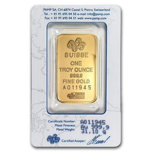 Buy Your 1 Troy Ounce Gold Bar Pamp Suisse Lady Fortuna