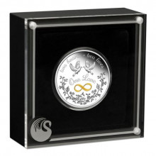 1 troy ounce silver coin one love 2021 proof