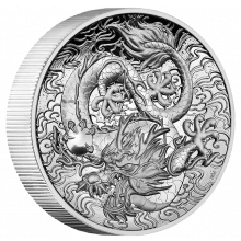 2 troy ounce silver coin myths and legends dragon 2021 Proof