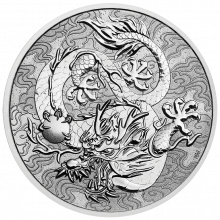 Silver coin Chinese myths and legends dragon 2021