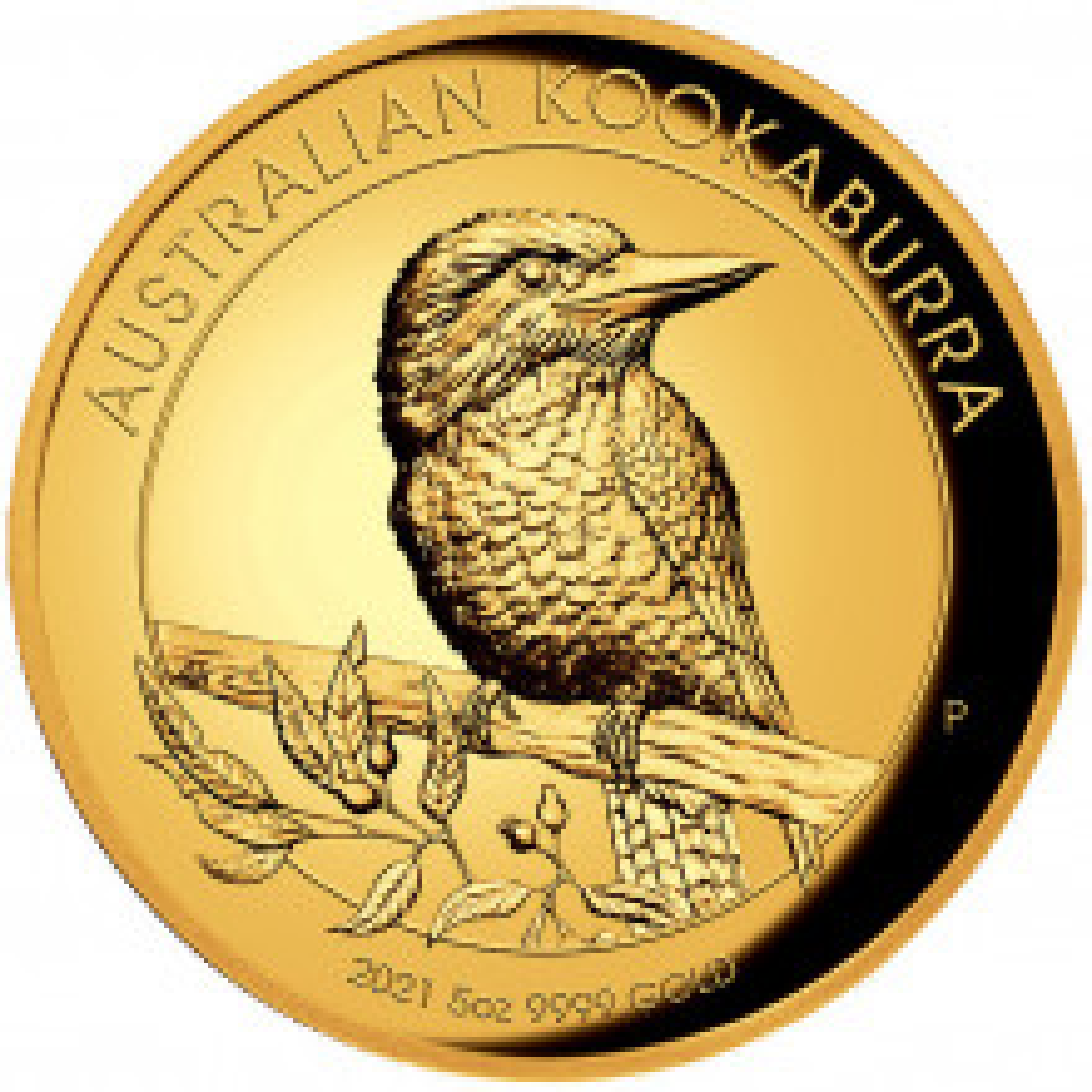 5 troy ounce gold coin Kookaburra 2021 Proof
