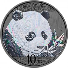 30 Gram zilveren munt Panda 2018 Antique Finish
