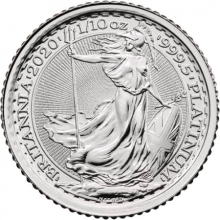 1/10 Troy ounce platinum coin Britannia 2020