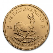 1/2 Troy ounce gold coin Krugerrand 2020